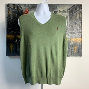 Polo Ralph Lauren,Pima Cotton,OliveGreen Vest SZ L